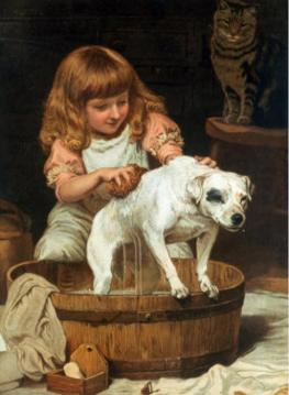 The Order Of The Bath Artwork by Charles Burton Barber
