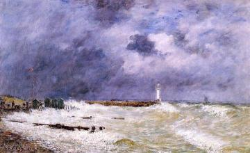 Le Havre, Heavy Winds Off Of Frascati Artwork by Eugène-Louis Boudin