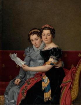The Sisters Zénaïde And Charlotte Bonaparte Artwork by Jacques Louis David