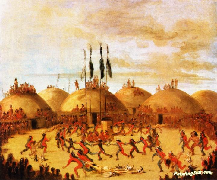 Mandan Dance Artwork By George Catlin Oil Painting Amp Art