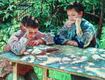 Knowledge is Power Artwork by Nikolai Petrovich Bogdanov-belsky