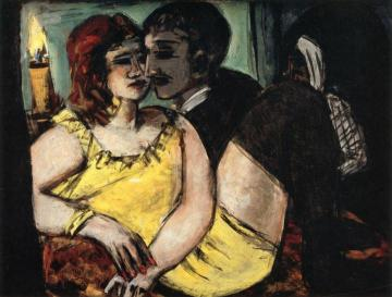 Amorous Couple Artwork by Max Beckmann