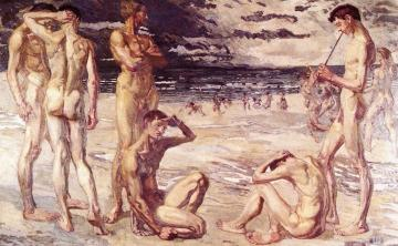 Young Men By The Sea Artwork by Max Beckmann