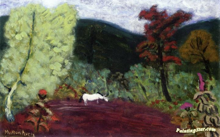 Horse In A Landscape Artwork by Milton Avery