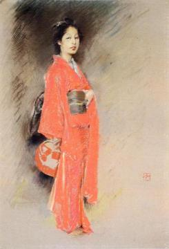 A Japanese Woman Artwork by Robert Frederick Blum