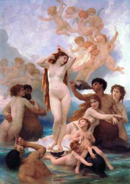 The Birth of Venus Artwork by William Adolphe Bouguereau