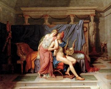 The Love Of Paris And Helen Artwork by Jacques Louis David