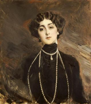 Portrait Of Lina Cavalieri Artwork by Giovanni Boldini
