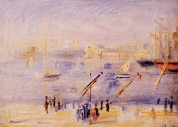The Old Port Of Marseille, People And Boats Artwork by Pierre Auguste Renoir