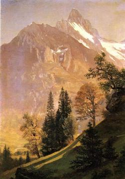 Mountain Landscape Artwork by Albert Bierstadt