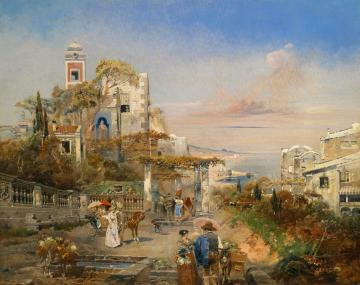 View Of The Bay Of Naples Artwork by Robert Alott