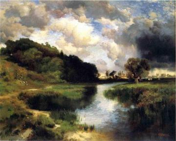 Cloudy Day at Amagansett Artwork by Thomas Moran
