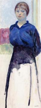 Woman In A Blue Blouse (study) Artwork by Pierre Bonnard
