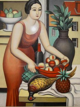 Woman With A Pheasant Artwork by Jean Metzinger