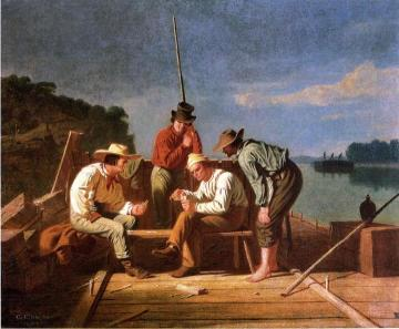 In a Quandry Artwork by George Caleb Bingham