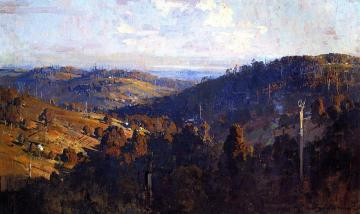 Lley From Olinda Top Artwork by Sir Arthur Streeton