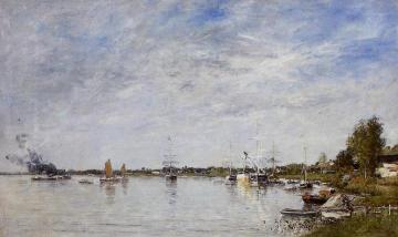 Boat Construction Docks at Lormont Artwork by Eugène-Louis Boudin
