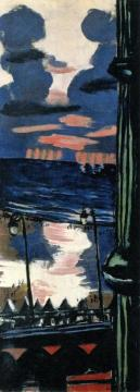 Evening On The Terrace Artwork by Max Beckmann