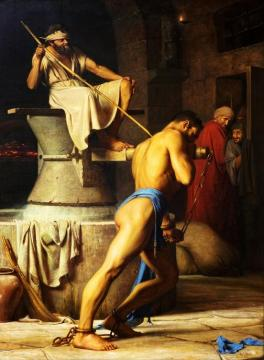 Samson And The Philistines (samson Hos Filistrene) Artwork by Carl Heinrich Bloch