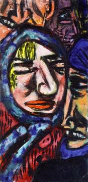 Bowery Artwork by Max Beckmann