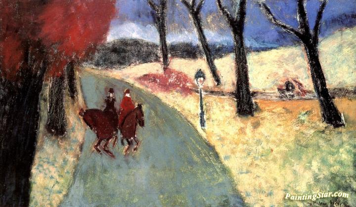 Winter Riders Artwork by Milton Avery