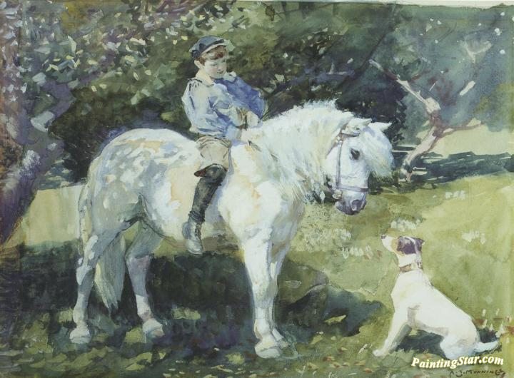 An Old Favorite Artwork By Sir Alfred James Munnings Oil