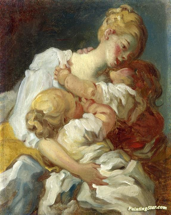 mother kiss artwork by jean honore fragonard oil painting. Black Bedroom Furniture Sets. Home Design Ideas
