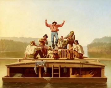 The Jolly Flatboatmen Artwork by George Caleb Bingham
