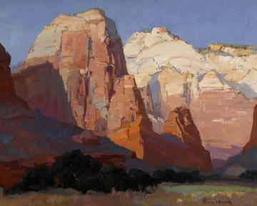 Pinnacle Rock, Utah Artwork by Franz Bischoff