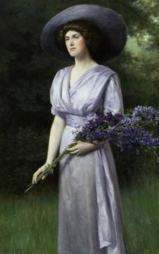 Doris Allan, Lady Vernon Artwork by John Maler Collier