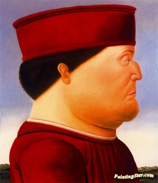 After Piero Della Francesca Artwork by Fernando Botero