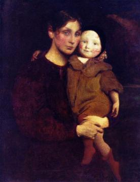 Mother and Child Artwork by George de Forest Brush