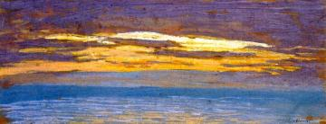 View Of The Sea At Sunset Artwork by Claude Oscar Monet
