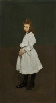Little Girl In White Artwork by George Wesley Bellows