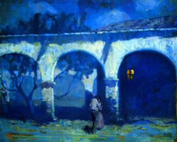 Moonlight In The Mission Artwork by Alson Skinner Clark
