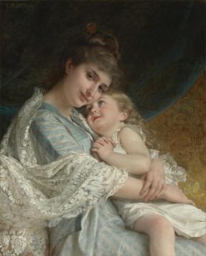 A Tender Embrace Artwork by Emile Munier