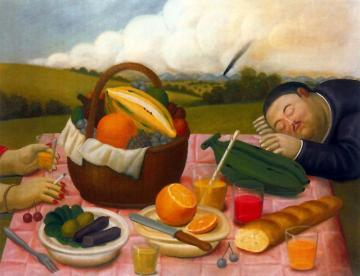 Picnic Artwork by Fernando Botero