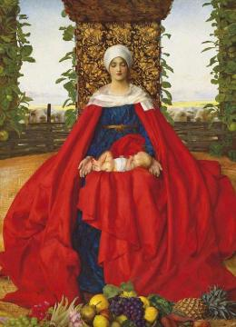 Our Lady Of The Fruits Of The Earth Artwork by Frank Cadogan Cowper, R.A.
