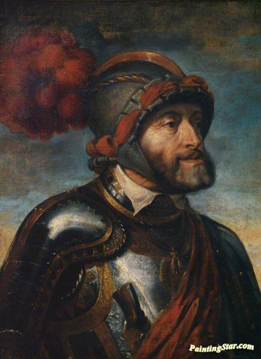 Emperor Charles V After Titian Artwork By Peter Paul