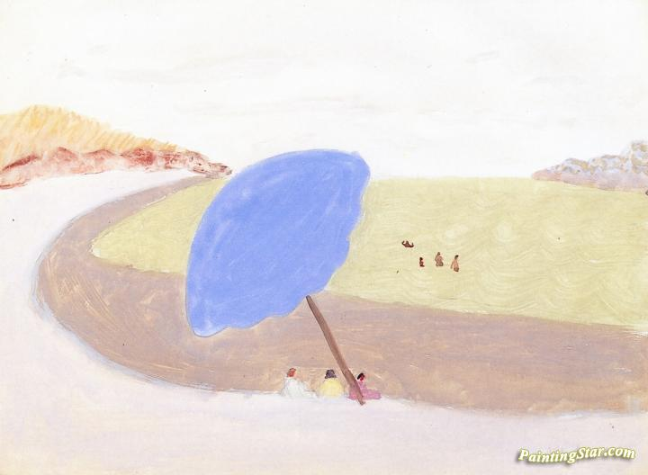 Blue Umbrella Artwork by Milton Avery
