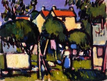 Roofs at Saintonge Artwork by John Duncan Fergusson