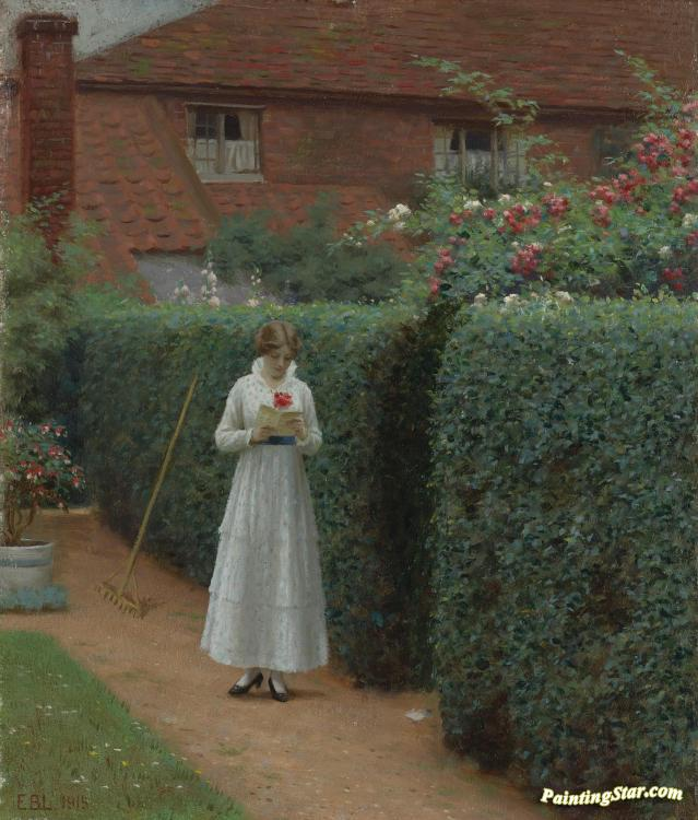 the ticket artwork by edmund blair leighton oil painting art
