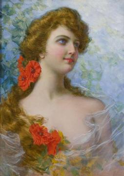 A Young Beauty Artwork by Gaetano Bellei