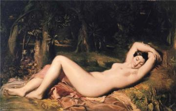 Bather Sleeping Near a Spring Artwork by Theodore Chasseriau