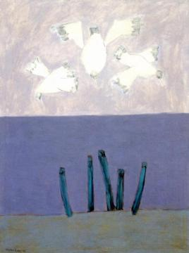 Birds Over Sea Artwork by Milton Avery