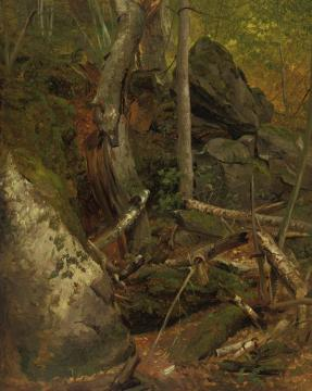 Forest Interior Artwork by William Holbrook Beard