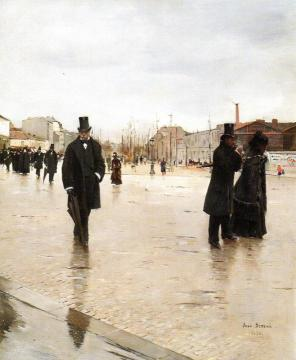 On the Way Back from the Funeral Artwork by Jean Georges Beraud
