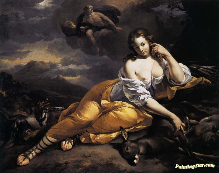 Callisto And Jupiter. Circa 1648-1650 Artwork by Nicolae Berchem