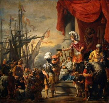 Aeneas at the court of Latinus Artwork by Ferdinand Bol