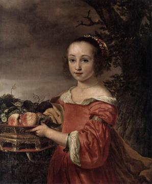 Petronella Elias with a Basket of Fruit Artwork by Ferdinand Bol